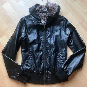 Faux-leather Coat